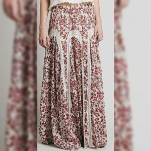 10133 Free People Zoie Floral Printed Maxi Skirt S